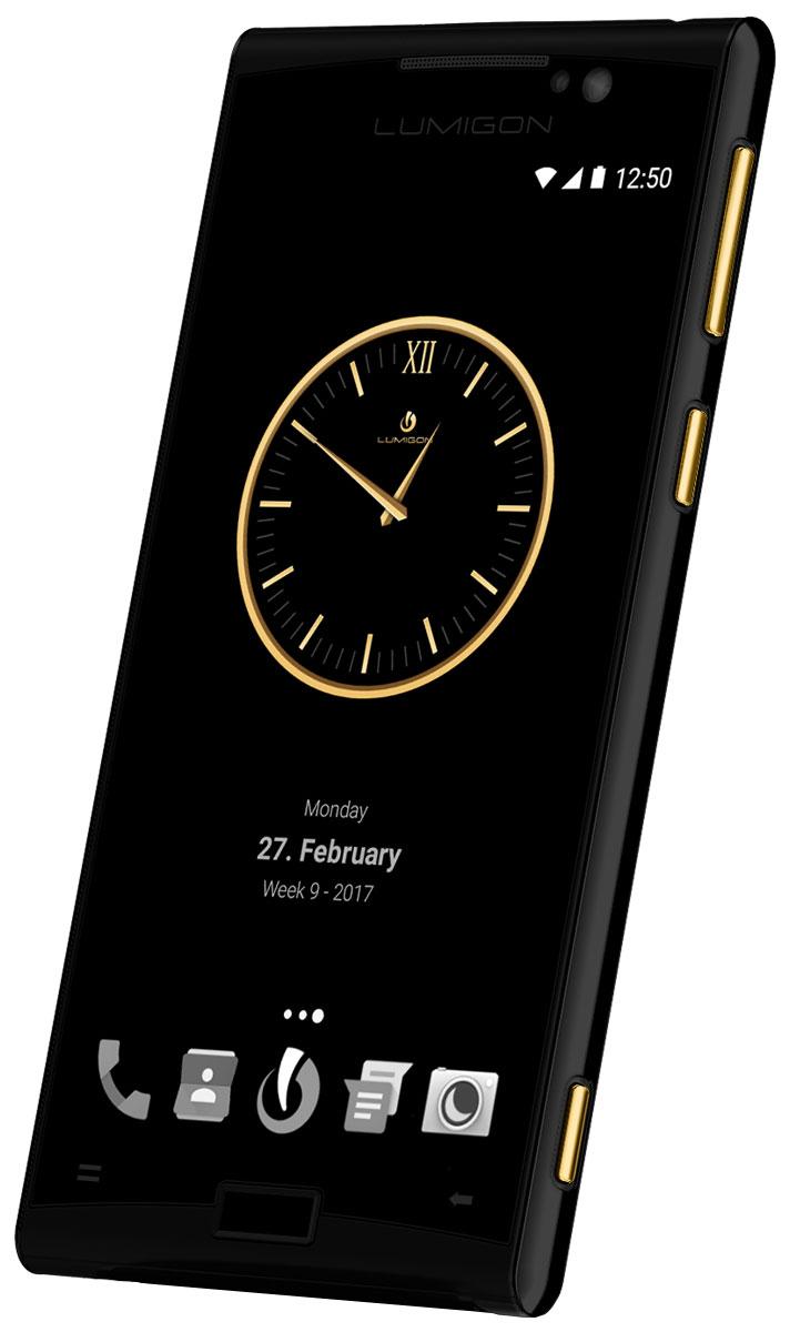 Lumigon T3 Exclusive, Black Steel Gold5711860000431Премиальный смартфон Lumigon T3 изготовлен из корабельной нержавеющей стали 316, 24-каратного золота и ударопрочного стекла Corning Gorilla Glass 4. Каждая уникальная функция была создана для удовлетворения реальных каждодневных потребностей. Каждая черта дизайна и выбор материала тщательно продумывается для того, чтобы служить практическим целям. Замечательная камера 13MP/4K камера с двухтонной вспышкой и очень быстродействующей технологией PDAF (система фазовой автофокусировки / Phase Detection Autofocus). Специальная кнопка для камеры сбоку обеспечивает быстрый доступ к камере, при этом кнопки громкости могут использоваться для уменьшения и увеличения. Контролируемый жестами дисплей BackTouch может использоваться для пролистывания фотографий и прокрутки веб-сайтов. Использование интегрированной камеры с технологией BackTouch является очень удобным для того, чтобы делать селфи. Клавиша действия ActionKey может быть настроена для включения...