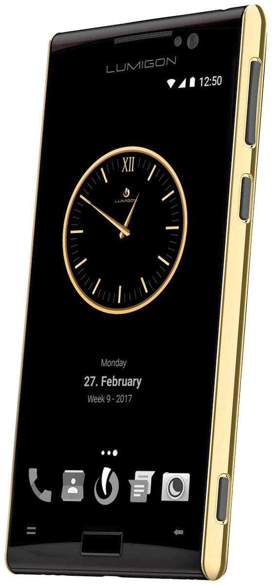 Lumigon T3 Exclusive, Gold Black5711860000257Премиальный смартфон Lumigon T3 изготовлен из корабельной нержавеющей стали 316, 24-каратного золота и ударопрочного стекла Corning Gorilla Glass 4. Каждая уникальная функция была создана для удовлетворения реальных каждодневных потребностей. Каждая черта дизайна и выбор материала тщательно продумывается для того, чтобы служить практическим целям. Замечательная камера 13MP/4K камера с двухтонной вспышкой и очень быстродействующей технологией PDAF (система фазовой автофокусировки / Phase Detection Autofocus). Специальная кнопка для камеры сбоку обеспечивает быстрый доступ к камере, при этом кнопки громкости могут использоваться для уменьшения и увеличения. Контролируемый жестами дисплей BackTouch может использоваться для пролистывания фотографий и прокрутки веб-сайтов. Использование интегрированной камеры с технологией BackTouch является очень удобным для того, чтобы делать селфи. Клавиша действия ActionKey может быть настроена для включения...