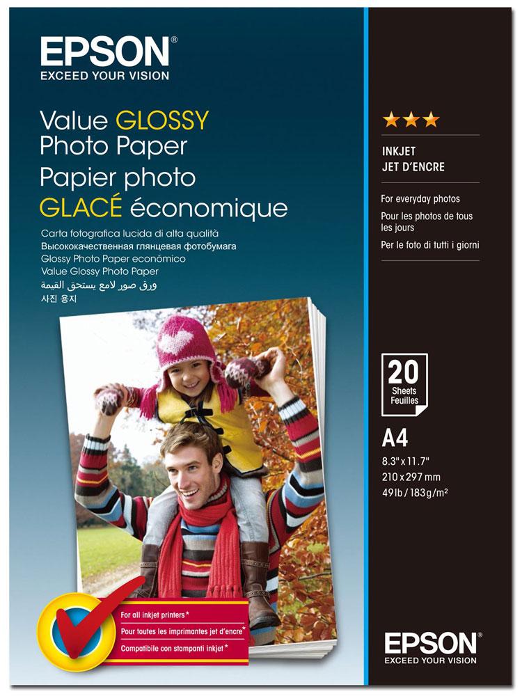 Epson C13S400035 Value Glossy фотобумага A4, 20 листовC13S400035Epson C13S400035 Value Glossy - качественная глянцевая фотобумага с покрытием, предназначенная для печати высококачественных фотографий.