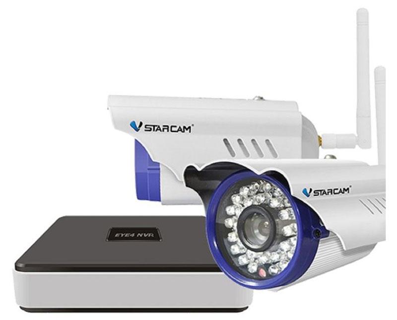Vstarcam NVR C15 KIT система видеонаблюдения1600000360785Vstarcam NVR C15 KIT - готовый уличный комплект для видеонаблюдения. Камеры отлично подходят для слежения за на открытым пространством и обеспечивает высокий уровень детализации изображения без задержек и потерь. Инфракрасная подсветка помогает производить качественную съёмку на расстоянии до 15 метров при слабой освещённости или даже при полном её отсутствии. Четырехканальный IP видеорегистратор Vstarcam N400 предназначен для записи видео с камер Vstarcam C серии (и других камер по протоколу Onvif и RTSP) в высоком разрешении на жесткий диск (HDD) объемом до 6 ТБ. Регистратор поддерживает все современные возможности доступа к видео в реальном времени и архиву. Например, просмотр локально на подключенном мониторе или по сети Интернет. Нет необходимости использовать статический IP-адрес. Вы экономите на абонентской плате, благодаря уникальной технологии Р2Р. Для просмотре изображения на ПК реализован веб-интерфейс, а для...