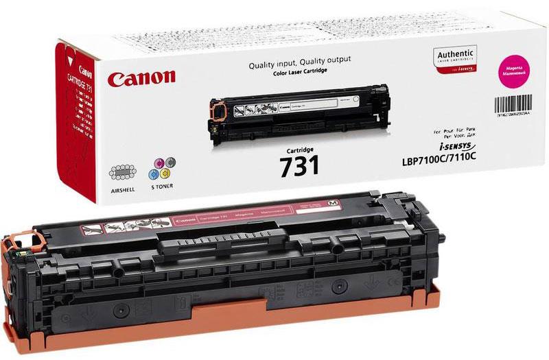 Canon 731, Magenta картридж для LBP7100Cn/7110Cw6270B002Используя картридж 731, вы можете быть уверены, что ваши отпечатки всегда будут идеально четкими. Ресурс печати приблизительно 1500 страниц гарантирует, что картридж прослужит так долго, как вам это нужно.