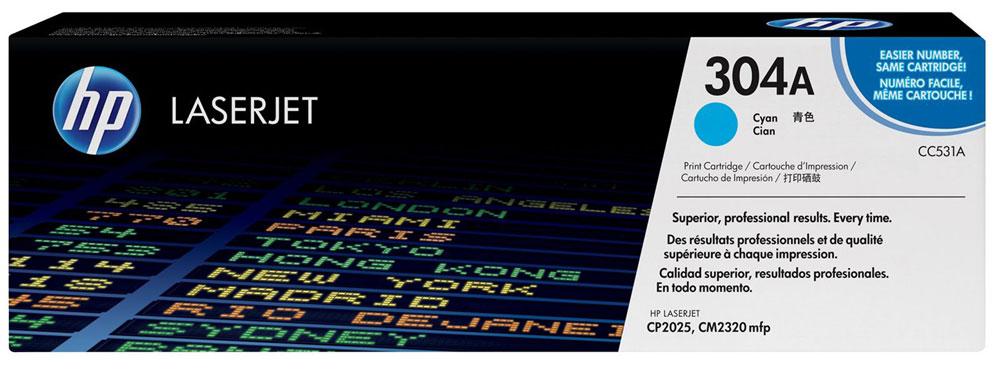HP CC531A, Cyan тонер-картридж для Color LaserJet CP2025/CM2320CC531AИспользование расходных материалов HP 304 LaserJet повысит привлекательность вашего бизнеса. Тонер HP ColorSphere обеспечивает профессиональное качество печати - насыщенные цвета, четкость текста и реалистичность фотографий. Поддерживайте высокую производительность с неизменно качественными, надежными оригинальными расходными материалами HP. Оцените насыщенные цвета и четкость графических изображений. Не ограничивайтесь текстом - создавайте фотореалистичные изображения. Разборчивый текст и четкость деталей станут лучшей рекламой. Тонер нового поколения HP ColorSphere позволяет печатать рекламные материалы высокого разрешения для вашей компании. Интеллектуальные технологии в оригинальных лазерных картриджах HP позволяют оптимизировать качество печати и надежность. Равномерная цветопередача обеспечивается настройкой системы в соответствии с уникальными характеристиками тонера HP ColorSphere.