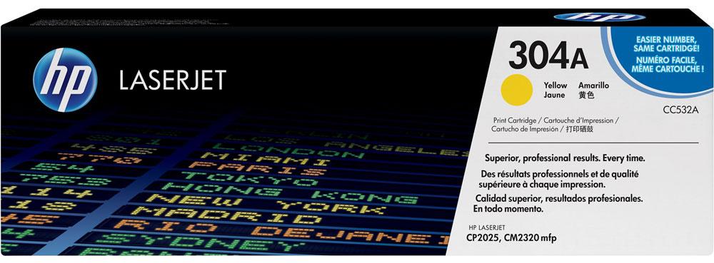 HP CC532A, Yellow тонер-картридж для Color LaserJet CP2025/CM2320CC532AИспользование расходных материалов HP 304 LaserJet повысит привлекательность вашего бизнеса. Тонер HP ColorSphere обеспечивает профессиональное качество печати - насыщенные цвета, четкость текста и реалистичность фотографий. Поддерживайте высокую производительность с неизменно качественными, надежными оригинальными расходными материалами HP. Оцените насыщенные цвета и четкость графических изображений. Не ограничивайтесь текстом - создавайте фотореалистичные изображения. Разборчивый текст и четкость деталей станут лучшей рекламой. Тонер нового поколения HP ColorSphere позволяет печатать рекламные материалы высокого разрешения для вашей компании. Интеллектуальные технологии в оригинальных лазерных картриджах HP позволяют оптимизировать качество печати и надежность. Равномерная цветопередача обеспечивается настройкой системы в соответствии с уникальными характеристиками тонера HP ColorSphere.