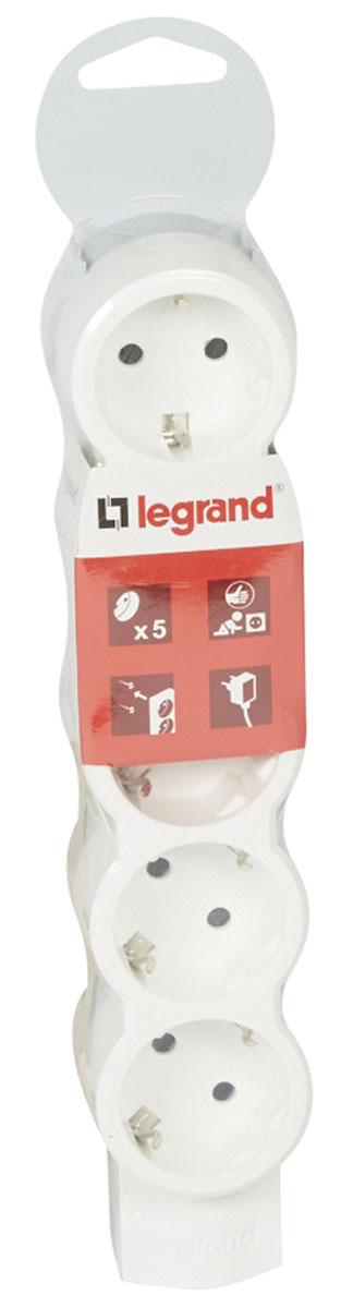 Legrand Стандарт сетевой удлинитель 5 x 2К+З, без кабеля695014Legrand Стандарт - компактный сетевой удлинитель с эргономичным корпусом, что позволяет устанавливать его под мебелью. Возможно крепление к стене. Одна из розеток повернута на 90 градусов для удобства подключения зарядных устройств.