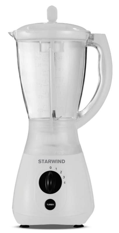 Starwind STB4381, White блендерSTB4381Компактный и простой в эксплуатации блендер Starwind STB4381 для людей, ведущих активный образ жизни, спортсменов и молодых мам. Надежные металлические ножи обеспечат быстрое измельчение продуктов до нужной вам консистенции. При помощи Starwind STB4381 можно приготовить ваши любимые коктейли, сорбеты или смузи. Разборная конструкция позволят легко очистить устройство.
