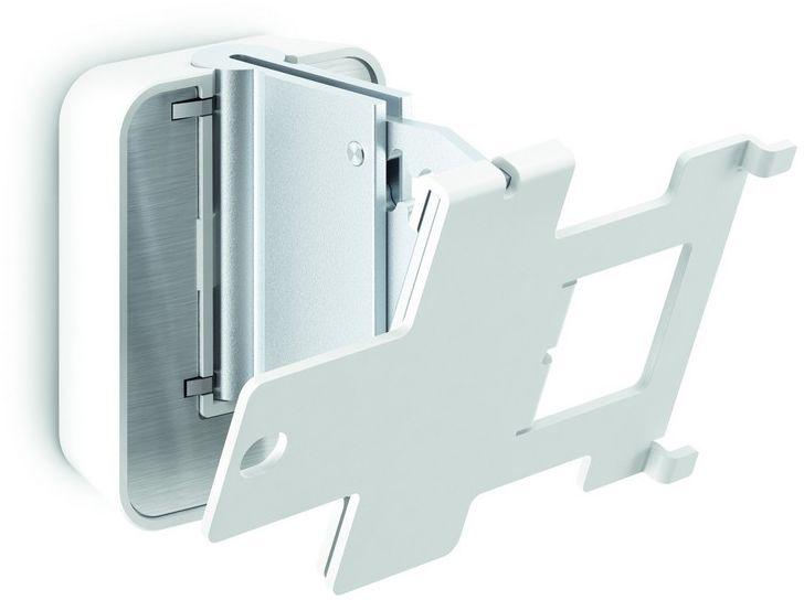 Vogels Sound 4203, White кронштейн для колонокSOUND 4203WVogels Настенное крепление SOUND 4203 белого цвета для акустической системы Sonos PLAY:3 Получите максимальную отдачу от вашей акустической системы Sonos PLAY:3 Ваша акустическая система Sonos PLAY:3 гармонично впишется в любой интерьер при установке в любом месте на стене с помощью настенного кронштейна Vogel's SOUND 4203. Установите динамик в вертикальном или горизонтальном положении в наиболее удобном для вас месте - вы сможете повернуть динамик под нужным углом для достижения оптимального звучания, благодаря возможности поворота кронштейна на 70° и наклона вверх и вниз на 30°. Этот плоский настенный кронштейн обеспечивает надежную фиксацию вашей акустической системы Sonos PLAY:3 и поставляется в черном или белом исполнении, чтобы гармонично сочетаться с цветом динамиков. Установить кронштейн строго горизонтально - пустяковое дело, благодаря встроенному спиртовому уровню. Поверните ваш динамик под нужным углом для создания оптимального звучания. Настенное крепление Vogel's для...