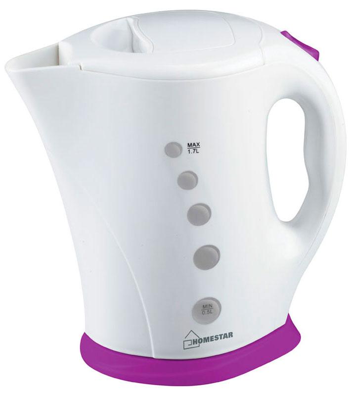 HomeStar HS-1005, White Purple электрический чайник