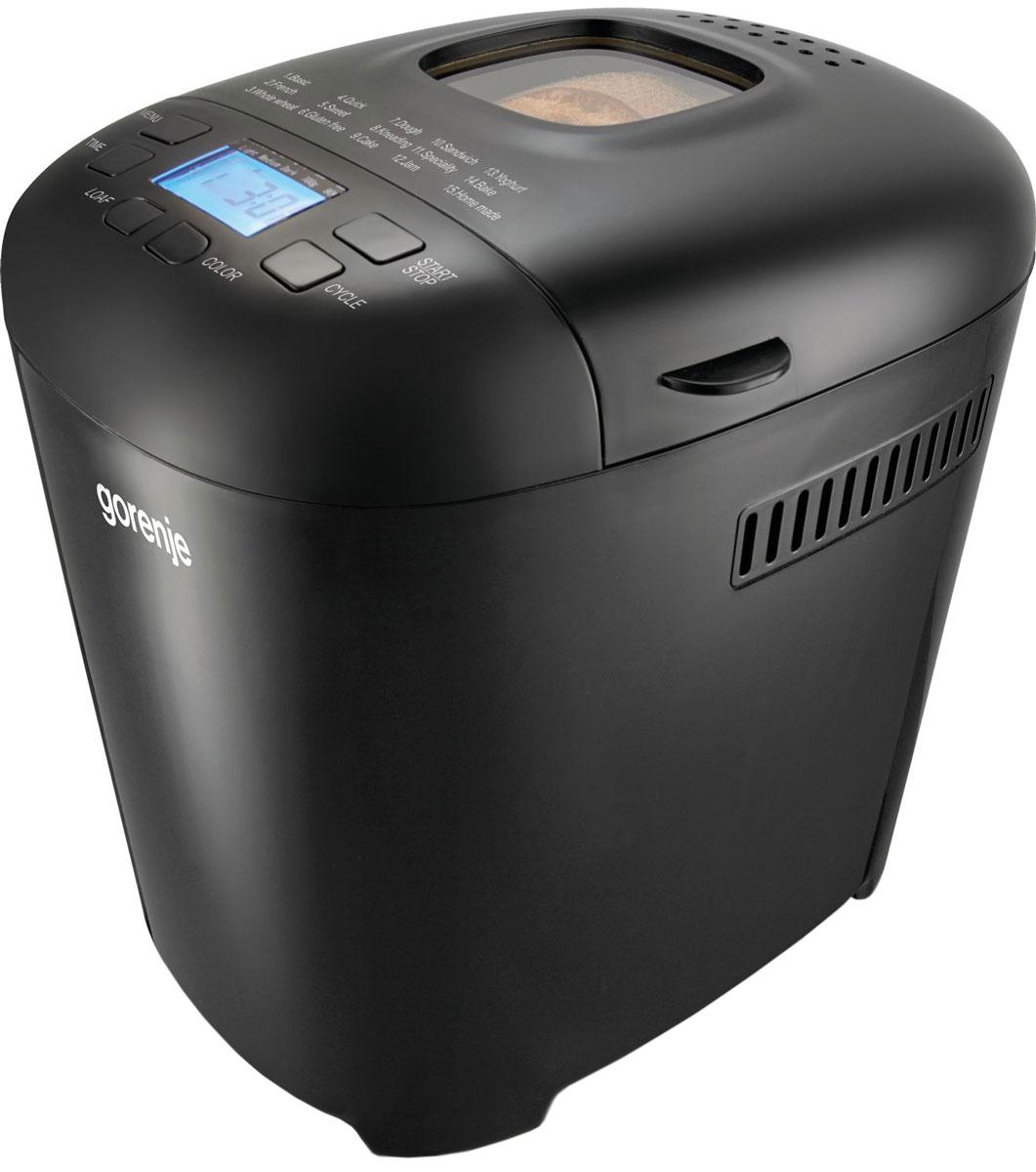 Gorenje BM900BKC, Black хлебопечкаBM900BKCСъемная форма для выпечки с керамическим покрытием Количество съемных форм для выпечки: 1 Количество тестомешателей: 1 Размер выпечки: 2 Выбор размера выпечки (мин.-макс.): 750 - 950 г Смотровое окошко позволяет следить за приготовлением Количество программ: 15 Программа для замешивания теста Звуковой сигнал Функция поддержания температуры сохраняет хлеб теплым Продолжение программы при сбое электропитания Кнопка ВКЛ. Отсрочка старта Выбор цвета корочки Индикатор работы с голубой подсветкой Программа для подъема теста Программа быстрой выпечки Программа Джем Программа для приготовления домашнего йогурта Программа безглютеновой выпечки Мерный стакан Мерная ложка Прорезиненное противоскользящее основание Автоотключение для дополнительной безопасности Мощность нагревателя: 550 Вт Длина присоединительного кабеля: 1 м Габаритные размеры: 21,8 х 29,7 х 29,2 см Вес нетто: 3,5 кг ...