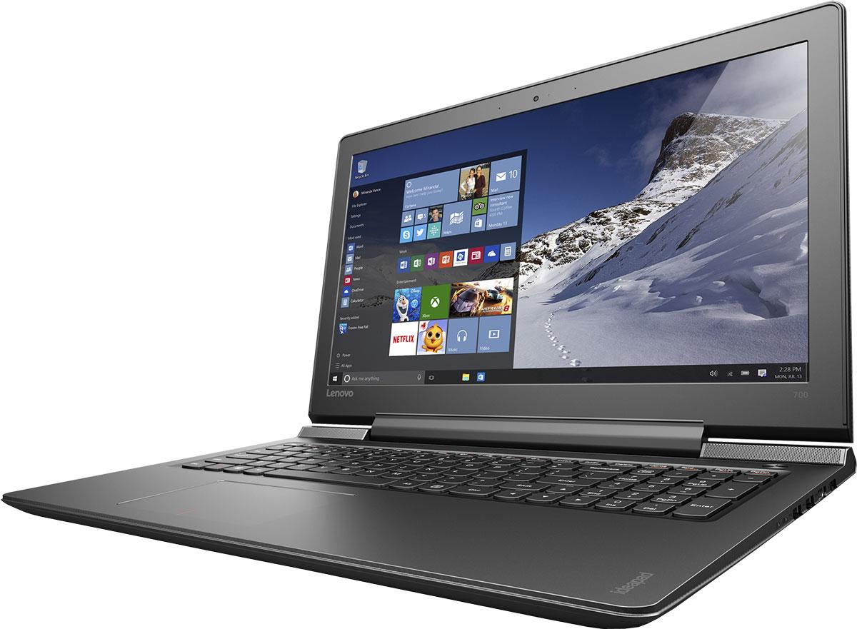Lenovo IdeaPad 700-15ISK, Black (80RU00MKRK)80RU00MKRKСтильный легкий мультимедийный ноутбук оснащен высокопроизводительным процессором Intel Core, дисплеем, обеспечивающим превосходное качество изображений, и дискретной видеокартой. Отличительные характеристики 15-дюймового IdeaPad 700 — по-настоящему объемный звук, сверхвысокая скорость Wi-Fi, а также возможность подключения высокопроизводительных твердотельных накопителей. Наряду с уже знакомыми функциями, Windows 10 Домашняя оснащена множеством улучшений, которые ты точно оценишь. Она обеспечивает быструю и слаженную работу всех программ. К тому же устройства, работающие под управлением Windows 10, поддерживают функцию энергосбережения Battery Saver — теперь можно работать и играть еще дольше. Ультрасовременная ОС Windows 10 предлагает больше встроенных средств защиты от вредоносных программ, чем любая другая операционная система. Высокопроизводительный, многофункциональный процессор Intel Core i5-6300HQ со встроенной системой безопасности...