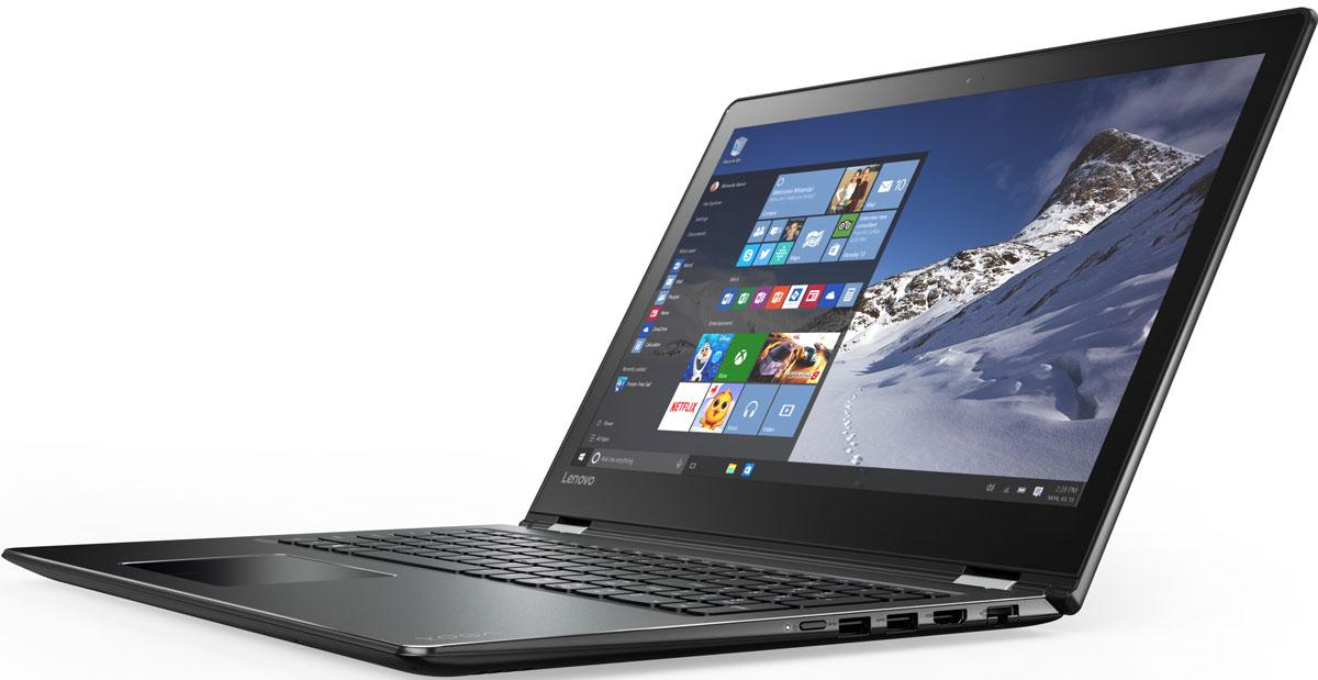 Lenovo Yoga 510-15IKB, Black (80VC000GRK)80VC000GRK15-дюймовый ноутбук Lenovo Yoga 510, оснащенный уникальными упорами для рук с алмазной гравировкой, создан для тех, кто любит выделяться из толпы. Он тоньше и легче моделей предыдущих поколений, к тому же объем его накопителя вдвое больше. А это значит, что ты можешь забыть о внешних жестких дисках. Аккумулятор заряжается на 40 % быстрее, чем у обычных ноутбуков. В зависимости от конкретных задач экран ноутбук Yoga 510 можно переворачивать, складывать и наклонять. В зависимости от задач этот ноутбук легко превращается в планшет. 15-дюймовый Lenovo Yoga 510 — это невероятно адаптивный компьютер. Используйте один из четырех режимов в зависимости от того, что вы делаете: ноутбук, консоль, презентация или планшет. Секрет прост: благодаря уникальному шарнирному механизму сенсорный экран Yoga 510 можно поворачивать на 360 градусов, выбирая оптимальный для конкретных задач режим работы. С ноутбуком Yoga 510 вы больше не привязаны к розетке. Устройство...