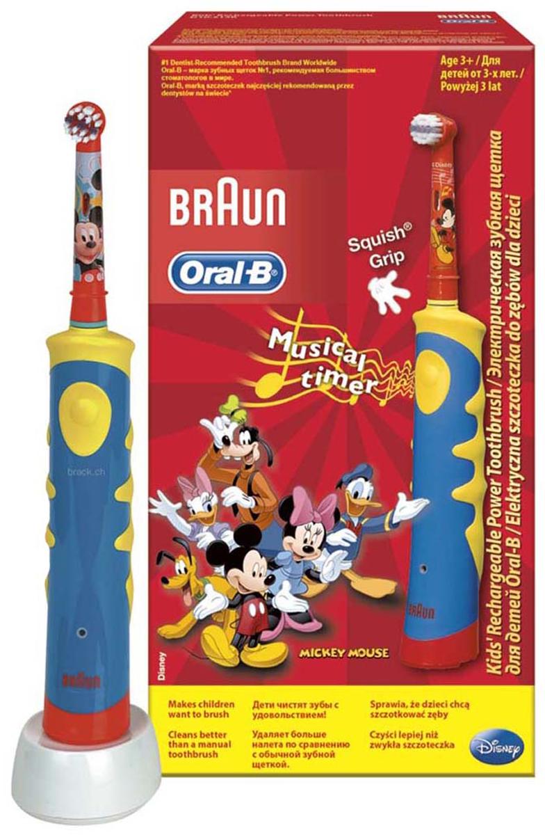 Электрическая зубная щетка для детей Oral-B Mickey KidsD10.513Лучшее удаление зубного налета с учетом особенностей детского организма. Дети хотят получать удовольствие во время чистки зубов: ?? благодаря ярким цветам и дизайну с любимыми героями Диснея© щётка Oral-B Mickey KIDS (D10K) превращает чистку зубов в веселое занятие! Клинически доказано, что электрическая зубная щетка Oral-B Mickey Kids превосходно чистит зубы по сравнению с обычной мануальной зубной щеткой. Oral-B Mickey KIDS имеет более короткие щетинки для особо бережной чистки полости рта ваших детей. Рекомендовано для детей с 3 лет. Технология возвратно-вращательных движений 2D в режиме чувствительной чистки совершает 5600 движений в минуту и позволяет удалять зубной налет лучше, чем мануальная зубная щетка. Комплектация: Электрическая зубная щетка (1 шт.), насадка для щетки Oral-B Kids (1 шт.), зарядное устройство (1 шт). Перейдите на новый уровень чистки за 2 минуты! * Oral-B – марка зубных щеток №1, используемая большинством...