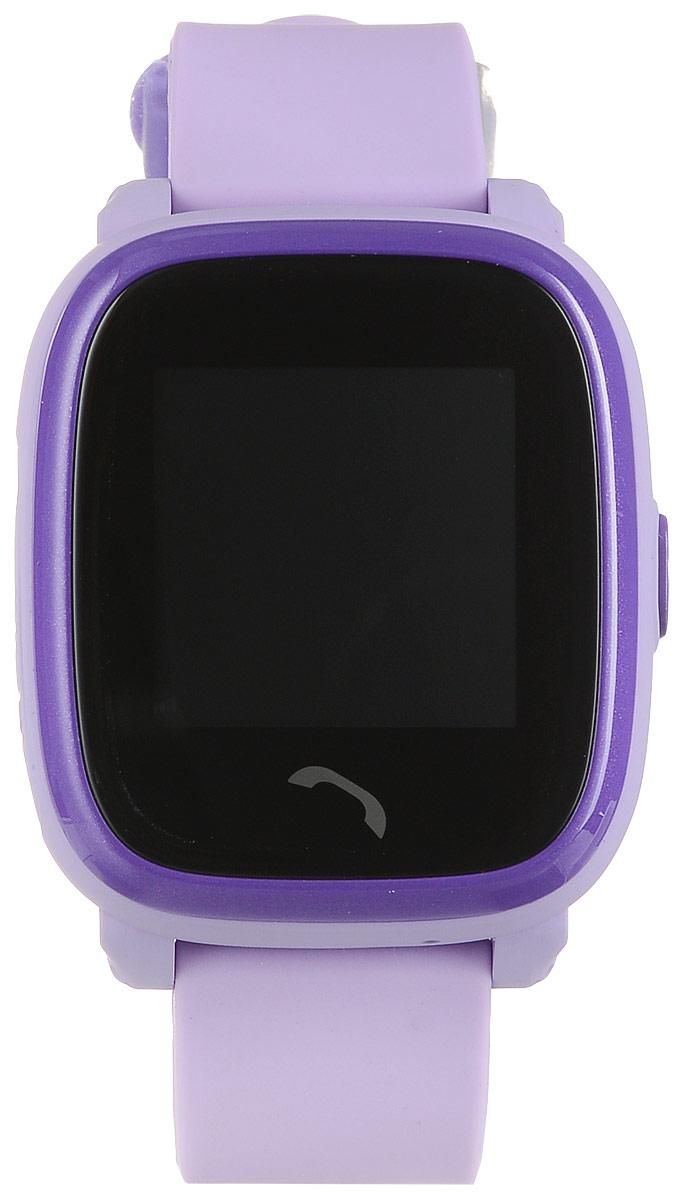 TipTop 400ВЦС, Violet детские часы-телефон00136Детские умные часы-телефон TipTop 400ВЦС с GPS-трекером созданы специально для детей и их родителей. С ними вы всегда будете знать, где находится ваш ребенок и что рядом с ним происходит. Управление часами происходит полностью через мобильное приложение, которое можно бесплатно скачать на AppStore или PlayMarket. Основные функции: Родители с помощью мобильного приложения всегда видят на карте, где находится их ребенок В часы вставляется сим-карта. Родители всегда могут позвонить на часы, также ребенок может позвонить с часов на 2 самых важных номера - мама, папа. Также можно разрешать или запрещать номерам звонить на часы, например, внести в список разрешенных звонков только номера телефонов близких и родных Родители могут слушать, что происходит рядом с ребенком - как няня обращается с ребенком, как ребенок отвечает на уроках Датчик снятия с руки - если ребенок снимет часы, то автоматически на телефон родителя придет...