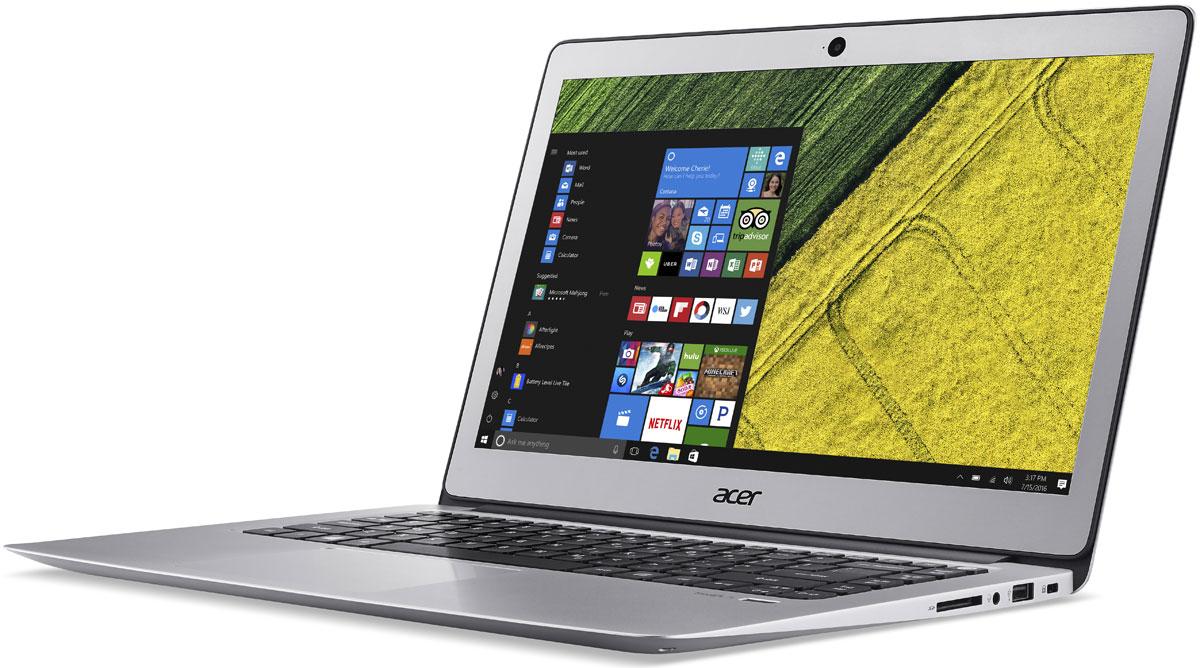 Acer Swift 3 (SF314-51-75N0), SilverSF314-51-75N0Acer Swift 3 - портативный ноутбук с толщиной корпуса 17,95 мм и весом 1,50 кг. Элегантный алюминиевый корпус красив и приятен на ощупь. Благодаря эргономичной клавиатуре с подсветкой можно набирать текст даже при слабом освещении. Благодаря автономной работе до 12 часов Swift 3 не даст заскучать в перелете от Дубая до Гонконга - и еще дальше. Оцените 3-кратное увеличение скорости беспроводного подключения благодаря технологии MU-MIMO с конфигурацией 2x2 и стандарту 802.11ac. Смотрите любимые фильмы в высоком разрешении на 14-дюймовом Full HD IPS-экране с натуральной цветопередачей. Микрофон, динамики и веб-камера с разрешением HD ноутбука Swift 3 идеально подходят для использования Skype for Business и обеспечивают непревзойденное качество связи при организации совещаний в видеочате. Порт USB 3.1 Type-C поддерживает сверхбыструю передачу данных, а через порт USB 3.0 вы сможете заряжать свои устройства, когда ноутбук выключен. ...