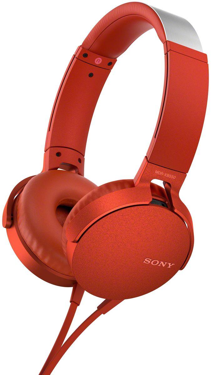 Sony XB550AP Extra Bass, Red наушники92477112