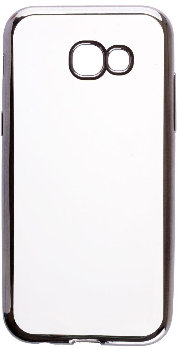 Skinbox 4People Silicone Chrome Border чехол для Samsung Galaxy A5 (2017), Dark Silver2000000125046Чехол-накладка Skinbox 4People Silicone Chrome Border для Samsung Galaxy A5 (2017) обеспечивает надежную защиту корпуса смартфона от механических повреждений и надолго сохраняет его привлекательный внешний вид. Накладка выполнена из высококачественного силикона, плотно прилегает и не скользит в руках. Чехол также обеспечивает свободный доступ ко всем разъемам и клавишам устройства.