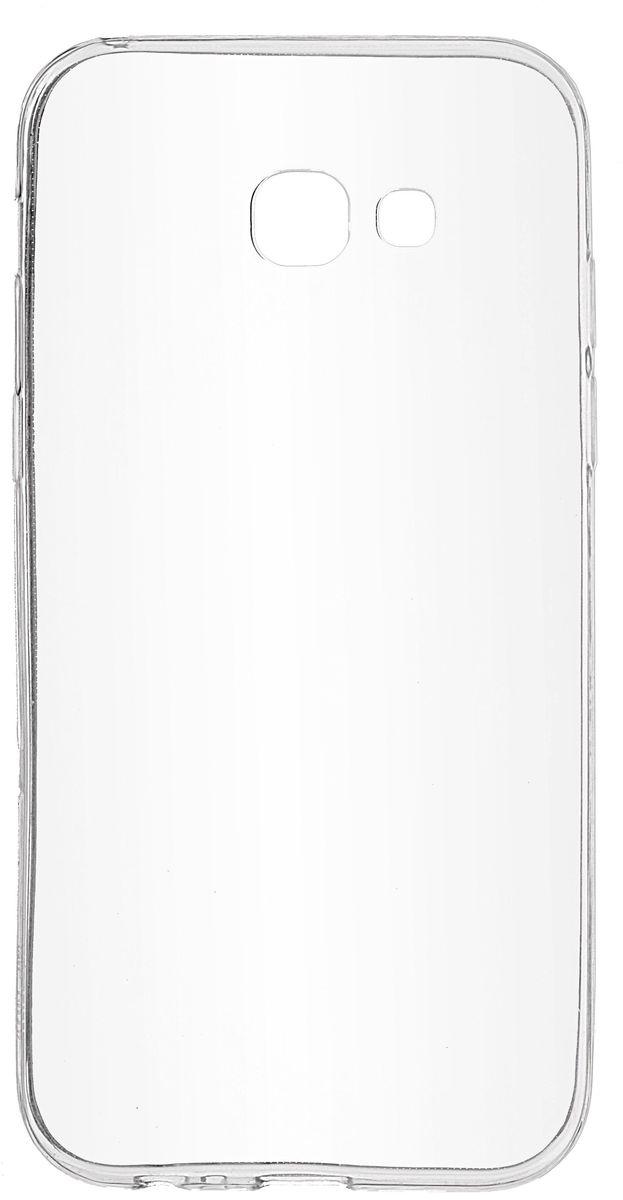 Skinbox Slim Silicone чехол для Samsung Galaxy A5 (2017), Transparent2000000126487Чехол надежно защищает ваш смартфон от внешних воздействий, грязи, пыли, брызг. Он также поможет при ударах и падениях, не позволив образоваться на корпусе царапинам и потертостям. Чехол обеспечивает свободный доступ ко всем функциональным кнопкам смартфона и камере.