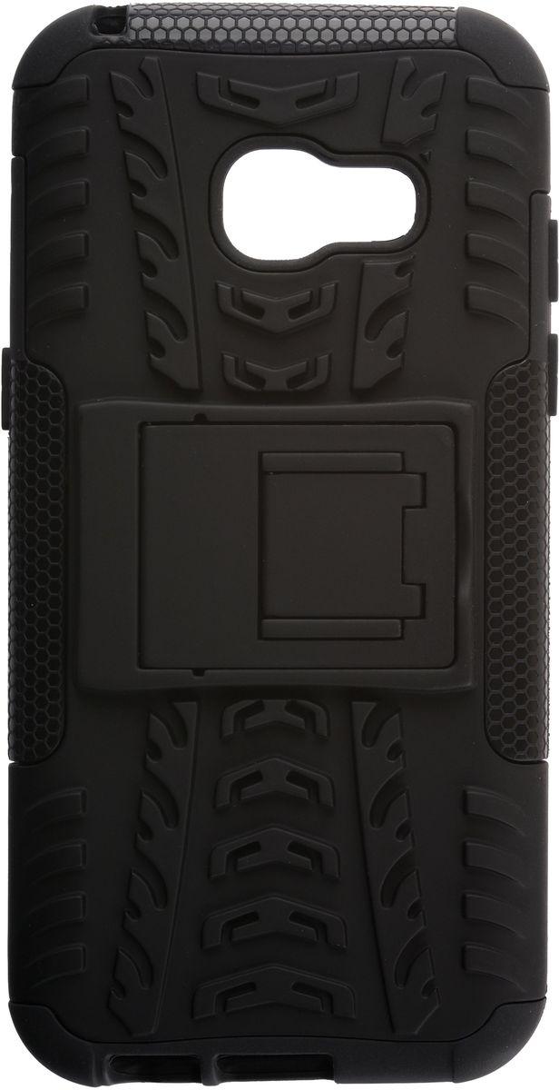 Skinbox Defender Case чехол для Samsung Galaxy A3 (2017), Black2000000132037Чехол-накладка Skinbox Defender Case для Samsung Galaxy A3 (2017) бережно и надежно защитит ваш смартфон от пыли, грязи, царапин и других повреждений. Выполнен из высококачественного поликарбоната, плотно прилегает и не скользит в руках. Чехол-накладка оставляет свободным доступ ко всем разъемам и кнопкам устройства.