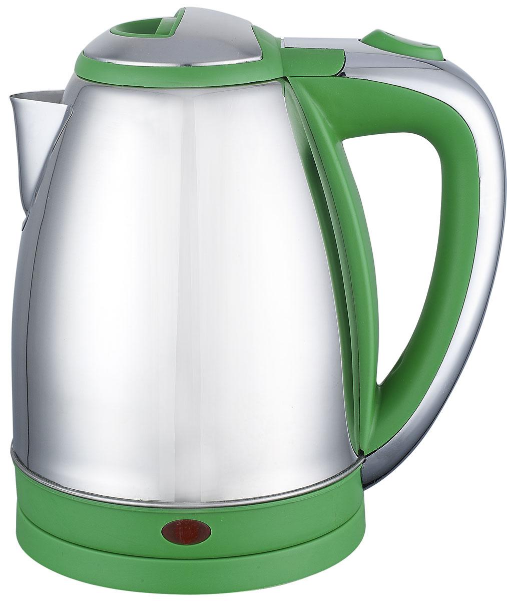 Irit IR-1314, Green электрический чайник79 02960Электрический чайник Irit IR-1314 прост в управлении и долговечен в использовании. Изготовлен из высококачественных материалов. Прозрачное окошко позволяет определить уровень воды. Мощность 1500 Вт вскипятит 1,8 литра воды в считанные минуты. Для обеспечения безопасности при повседневном использовании предусмотрены функция автовыключения, а также защита от включения при отсутствии воды.