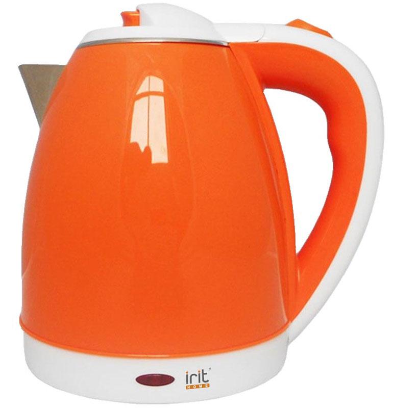 Irit IR-1233 электрический чайник79 02385Электрический чайник Irit IR-1233 прост в управлении и долговечен в использовании. Изготовлен из высококачественных материалов. Прозрачное окошко позволяет определить уровень воды. Мощность 1500 Вт вскипятит 1,8 литра воды в считанные минуты. Беспроводное соединение позволяет вращать чайник на подставке на 360°. Для обеспечения безопасности при повседневном использовании предусмотрены функция автовыключения, а также защита от включения при отсутствии воды.