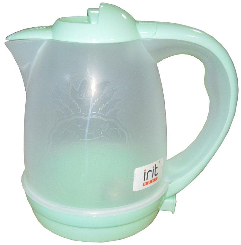 Irit IR-1119 электрический чайник79 02446Электрический чайник Irit IR-1119 прост в управлении и долговечен в использовании. Корпус изготовлен из термостойкого пластика. Мощность 600 Вт быстро вскипятит 2,6 литра воды.