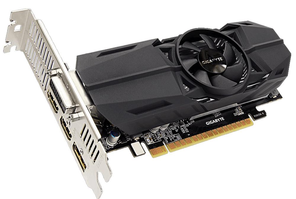 Gigabyte GeForce GTX 1050 Ti OC Low Profile 4G 4GB видеокартаGV-N105TOC-4GLВидеокарта Gigabyte GeForce GTX 1050 Ti OC Low Profile 4G создана, чтобы удовлетворить все требования опытных игроков. Основано на решении NVIDIA, архитектура GPU Pascal GPU. Технология NVIDIA GameWorks поддерживает последние требования современных мониторов, включая VR, мониторы с ультра высоким разрешением, так же обеспечивает плавный игровой процесс, кинематографический опыт, возможность захвата изображения 360 даже в VR. Откройте для себя новое поколение VR, с низким показателем задержки, наушниками последнего поколения, благодаря технологии NVIDIA VRWorks. VR аудио (звуковые эффекты), реалистичная графика и физика предметов, позволяют вам прочувствовать и услышать каждый момент. При производстве карты используются дроссели и конденсаторы высокого качества, благодаря этому факту графическая карта обеспечивает выдающуюся производительность и долговечность системы. Одним простым действием в программном обеспечении XTREME...