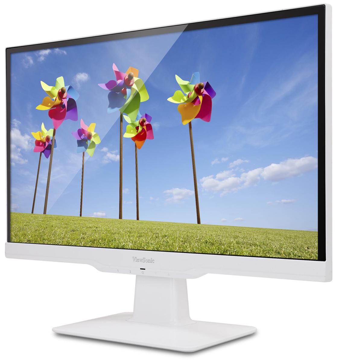 ViewSonic VX2263SMHL, White мониторVS1570122-дюймовый мультимедийный монитор ViewSonic VX2263Smhl Full HD с портами HDMI и MHL/HDMI для подключения различных устройств высокой четкости и мобильных устройств. Технология SuperClear IPS, широкие углы обзора 178 градусов и покрытие 95% цветового пространства sRGB обеспечивают превосходный уровень цветопередачи. Благодаря технологии ClearMotiv со сверхкоротким временем отклика 2 мс (GtG), технологии ViewMode и двум динамикам любители кино и ценители компьютерных игр получат отличное качество звука и изображения. Технологии для защиты глаз Flicker-Free и Blue Light Filter, режим ECO, элегантный ободок без рамки, белое глянцевое покрытие корпуса и крепления, соответствующие стандартам VESA, делают монитор VX2263Smhl превосходным устройством для любого дома или офиса. Технология улучшения изображения SuperClear обеспечивает превосходную цветопередачу и расширяет углы обзора до 178° по горизонтали и по вертикали. Глядя на экран сверху, снизу, прямо или...