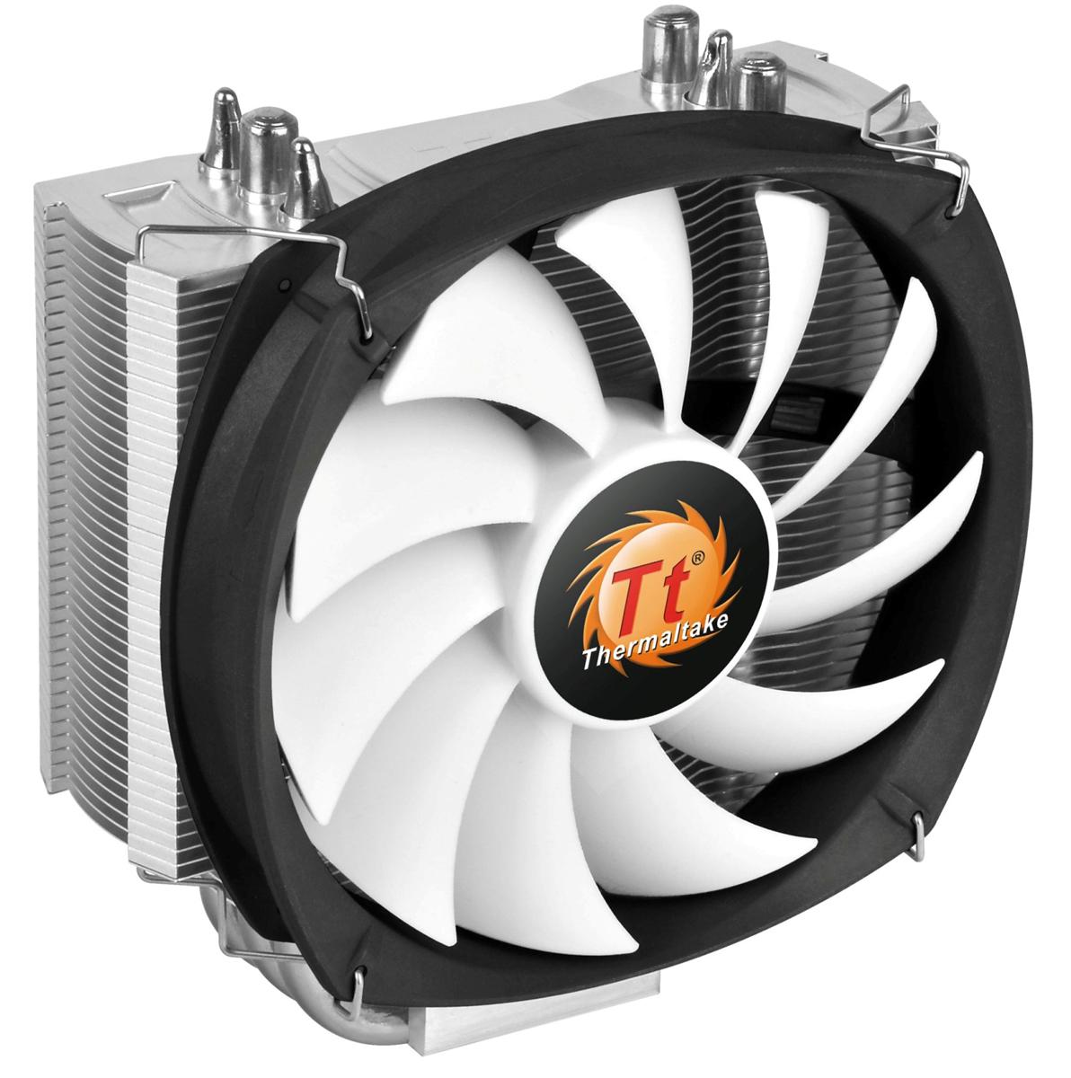 Thermaltake Frio Silent 12 система охлаждения для процессораCL-P001-AL12BL-BFrio Silent 12 - это новинка от Thermaltake из серии кулеров Frio Silent. Новинка унаследовала башенный дизайн с узкими пластинами радиатора. Это позволяет добиться большего пространства вокруг процессорного разъема для установки высокопроизводительных оверклокерских модулей оперативной памяти. Специально спроектированный 120 мм охлаждающий вентилятор имеет высокую эффективность и низкий уровень шума. Frio Slient 12 решает проблему установки модулей оперативной памяти с высокими радиаторами, помогая при этом еще и улучшить качество их охлаждения. Специальные охлаждающие пластины радиатора толщиной 0,4 мм не только стильно выглядят, но и позволяют быстро отводить тепло. 3 медные тепловые трубки диаметром по 8 мм соприкасаются с поверхностью крышки процессора по технологии прямого контакта, что позволяет ускорить процесс охлаждения. Уникальный 120 мм ШИМ вентилятор в низким уровнем шума и высокой эффективностью охлаждения....