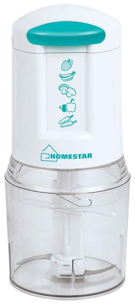 HomeStar HS-2007 измельчитель54 002689Измельчитель HomeStar HS-2007 поможет быстро приготовить салат, сделать зажарку для супа и заготовку из мяса, измельчить орехи для торта. Данная модель имеет прозрачную чашу, благодаря которой удобно контролировать количество ингредиентов. Компактный прибор удобно хранить.