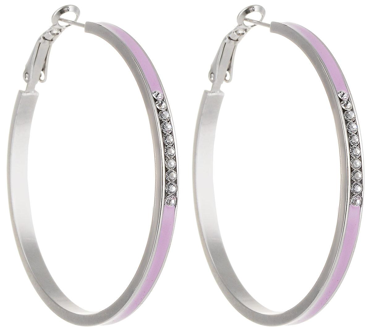 Серьги Art-Silver, цвет: розовый. 141М-641141М-641Стильные серьги Art-Silver выполнены из бижутерного сплава. Серьги оформлены декоративными вставками. Серьги выполнены с замками-булавками. Такие серьги будут ярким дополнением вашего образа.