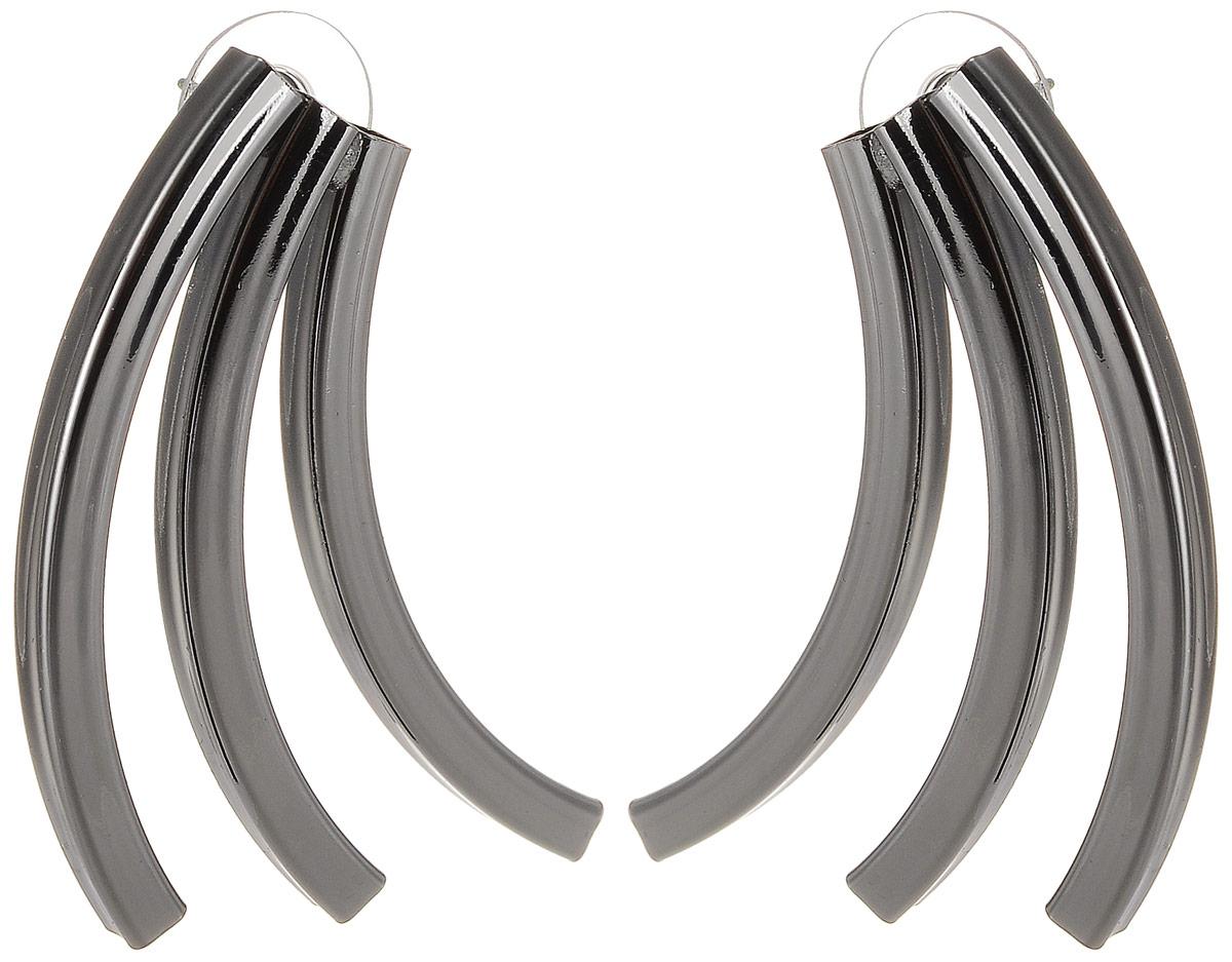 Серьги Art-Silver, цвет: черный. СРГЧ5005-283СРГЧ5005-283Бижутерный сплав.