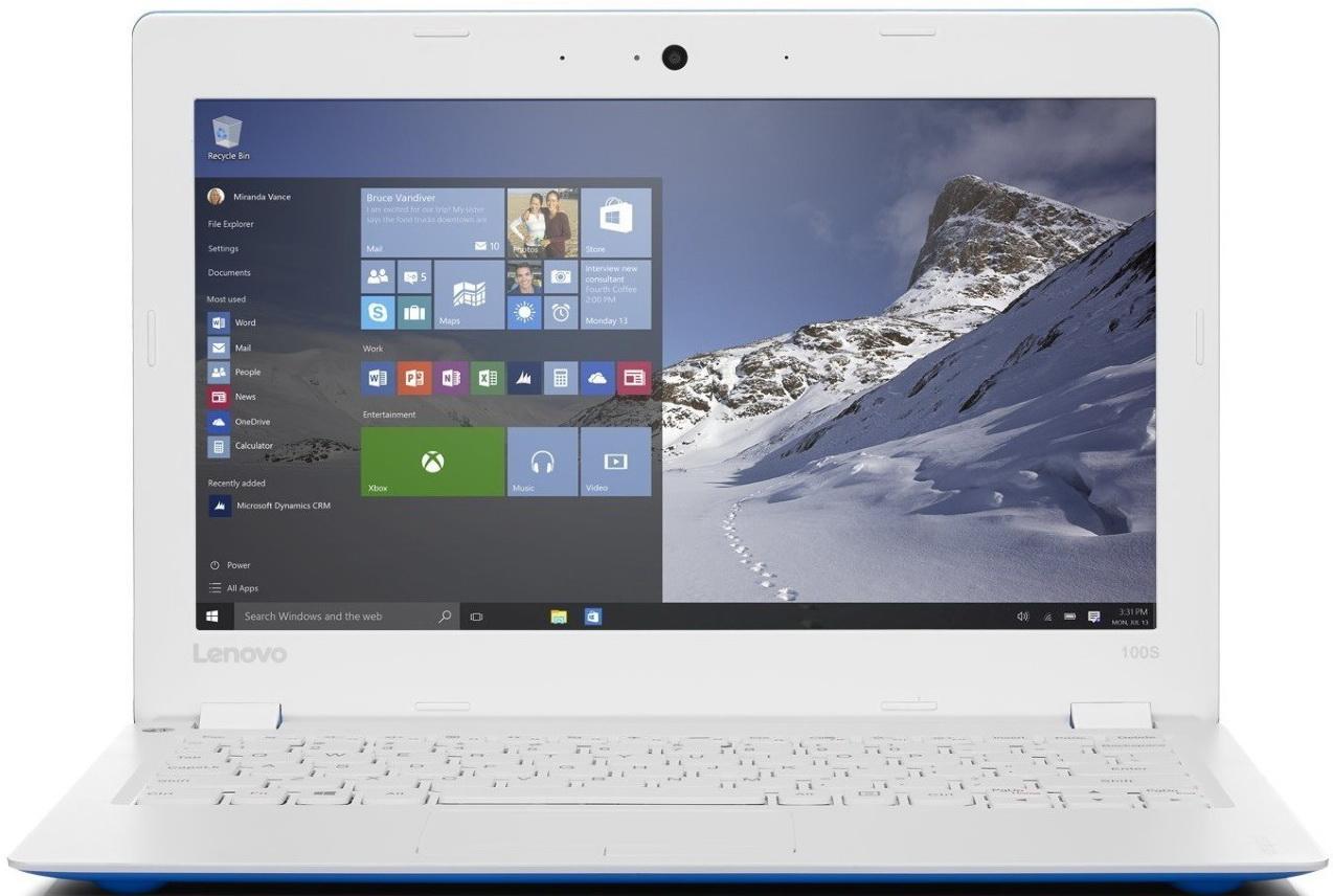 Lenovo IdeaPad 100S-11IBY, Blue White (80R2003LRK)80R2003LRKЛегкий и тонкий ноутбук Lenovo IdeaPad 100S разработан для современной жизни. Быстрый просмотр сайтов и файлов, потрясающе четкое изображение и высокая скорость отклика — этим и раньше могли похвастаться устройства Lenovo, оснащенные четырехъядерным процессором. Процессор Intel Atom с легкостью справится с любыми задачами, от работы до игр. Мощный и недорогой 11-дюймовый ноутбук Ideapad 100S прост в использовании и способен работать до 8 часов от аккумулятора. Больше не придется повсюду таскать с собой тяжелый, неуклюжий ноутбук. При толщине всего 17,5 мм и весе 1 кг ноутбук Ideapad 100S превосходно впишется в вашу динамичную и насыщенную событиями жизнь. Ideapad 100S оснащен портами USB 2.0 и HDMI, а также удобным слотом для карты MicroSD, при помощи которой легко хранить и переносить данные. Поддержка Wi-Fi 802.11 b/g/n и Bluetooth 4.0 позволят вам подключаться к сети Интернет, где бы вы ни находились. Точные характеристики...