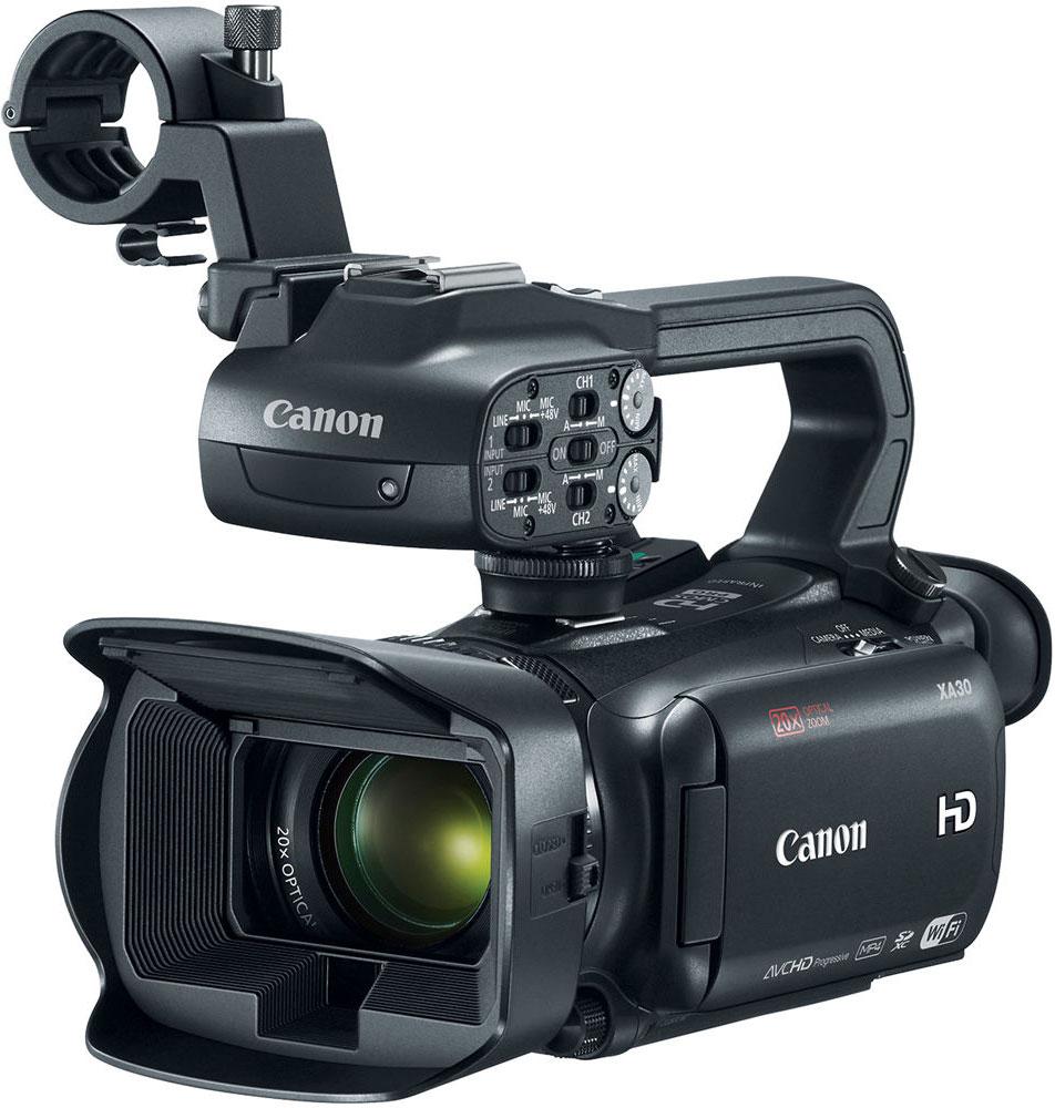 Canon XA30, Black профессиональная видеокамера1004C003Компактная видеокамера Canon XA30 имеет широкий динамический диапазон и идеально подходит для съемки четкого видео профессионального качества самых разных сюжетов — корпоративные видеоролики, свадьбы, видео для онлайн-использования и многие другие — особенно в сложных условиях высококонтрастного освещения. Снимайте видеоролики превосходного качества благодаря универсальному широкоугольному объективу 26,8 мм камеры XA30. 20x зум позволяет приблизиться к объекту съемки, а динамический оптический стабилизатор изображения компенсирует сотрясения в 5 направлениях, обеспечивая высокую плавность изображения. 8-лепестковая ирисовая диафрагма с максимальным значением f/1.8 и технология EDM позволяют достичь приятного эффекта боке. Новый датчик Canon HD CMOS Pro с эффективным количеством пикселей 2,91 МП позволяет получать изображения в формате Full HD превосходного качества. Благодаря повышенной чувствительности и улучшенному отношению сигнал/шум изображения, особенно...