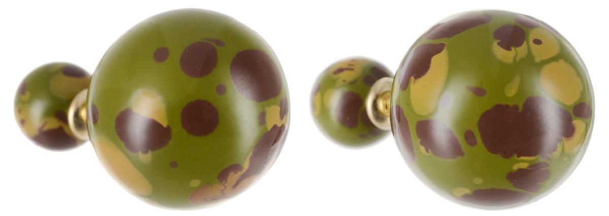 Серьги Art-Silver, цвет: зеленый, коричневый. 29237-3-40529237-3-405Стильные серьги Art-Silver выполнены из бижутерного сплава. Серьги оформлены оригинальными декоративными вставками. Серьги выполнены с замками-гвоздиками. Такие серьги будут ярким дополнением вашего образа.