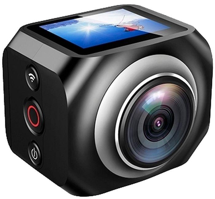 Eken H360R, Black экшн-камераH360R BLACKМаксимальное разрешение съемки 360-градусных видео составляет 1920 х 1080 при 25 кадр/сек. На верхней части корпуса камера оборудована информационным OLED дисплеем диагональю 1.5 дюйма. Встроенного аккумулятора объемом 1200 мАч достаточно для непрерывной работы камеры в течение полутора часов. Eken H360R совместима со смартфонами на Android и iOS, подключение осуществляется беспроводным способом по Wi-Fi. В комплект так же входит пульт ДУ при помощи которого вам будет удобно пользоваться функцией начала и окончания съемки.