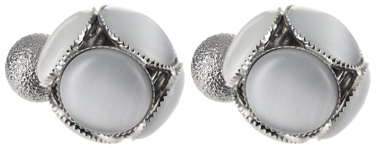 Серьги Art-Silver, цвет: серебряный. КФ16-514КФ16-514Бижутерный сплав, кош.глаз.