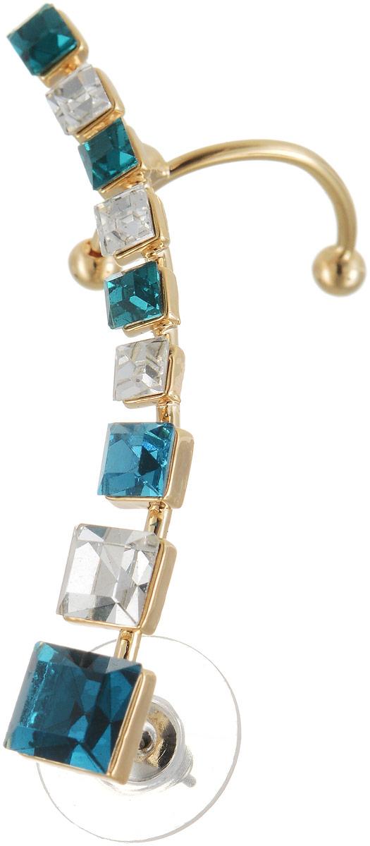 Серьги Art-Silver, цвет: золотой. СРГГ30-400СРГГ30-400Бижутерный сплав, куб.циркон, золото 0,01мкрн.