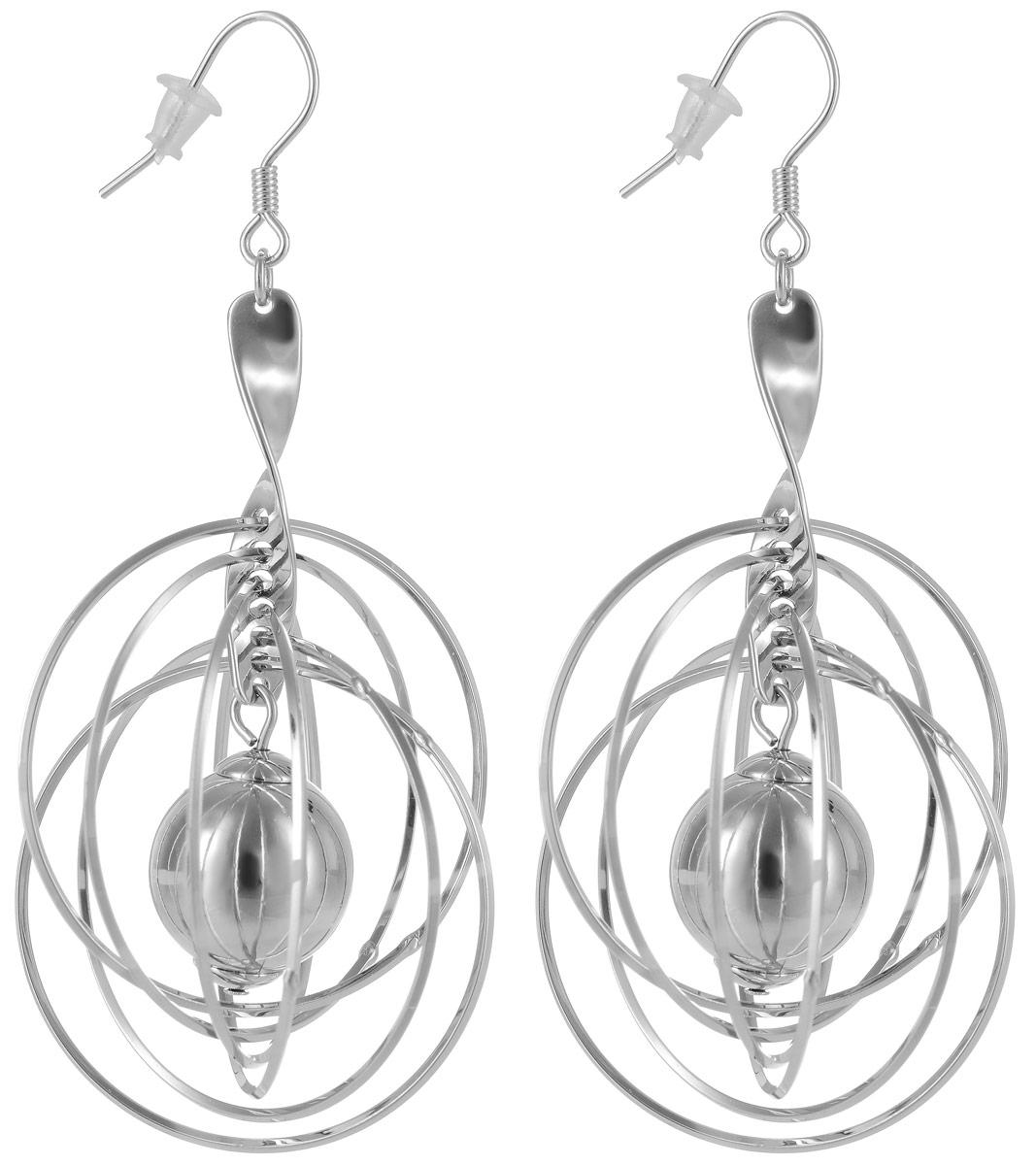 Серьги Art-Silver, цвет: серебряный. 18412-36518412-365Стильные серьги Selena выполнены из латуни с гальваническим покрытием. Серьги оформлены оригинальными декоративными подвесками. Серьги выполнены с замком-петлей. Такие серьги будут ярким дополнением вашего образа.