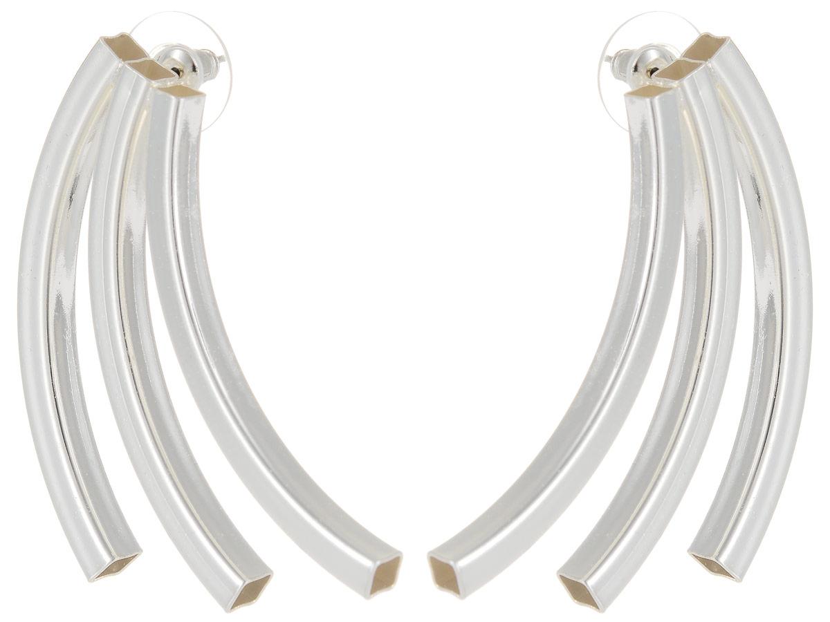 Серьги Art-Silver, цвет: серебряный. СРГ5005-283СРГ5005-283Стильные серьги Art-Silver выполнены из бижутерного сплава. Серьги оформлены оригинальными декоративными вставками. Серьги выполнены с замками-гвоздиками. Такие серьги будут ярким дополнением вашего образа.