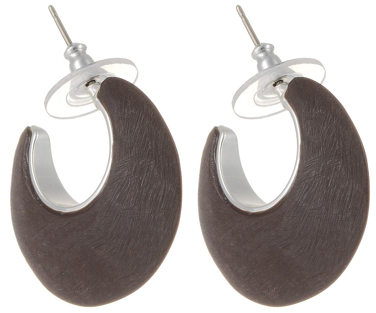 Серьги Art-Silver, цвет: коричневый. М509-365М509-365Стильные серьги Art-Silver выполнены из бижутерного сплава. Серьги выполнены с замками-гвоздиками. Такие серьги будут ярким дополнением вашего образа.