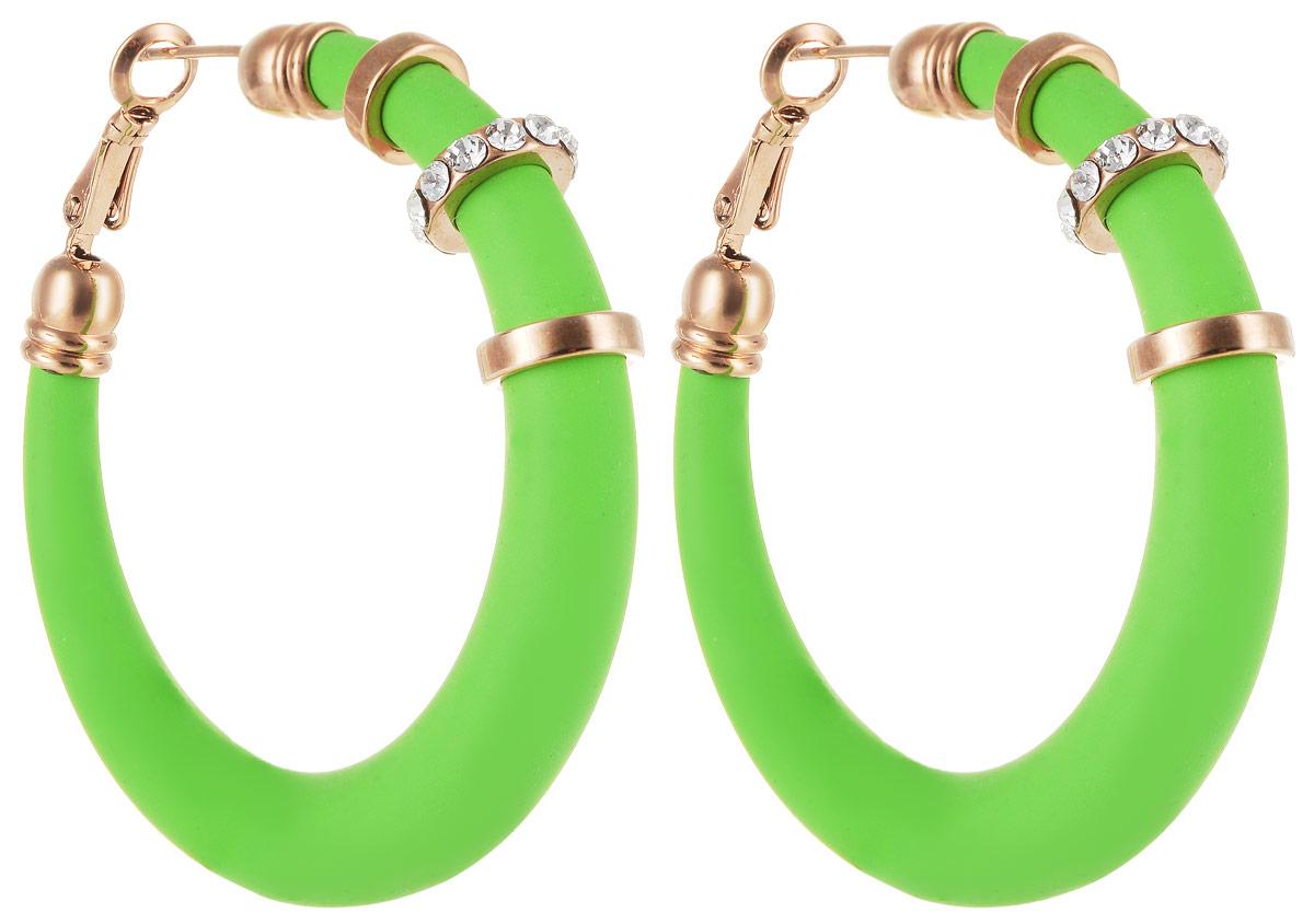 Серьги Art-Silver, цвет: зеленый. 227M-662227M-662Стильные серьги Art-Silver выполнены из бижутерного сплава. Серьги оформлены оригинальными декоративными вставками. Серьги выполнены с замками-булавками. Такие серьги будут ярким дополнением вашего образа.