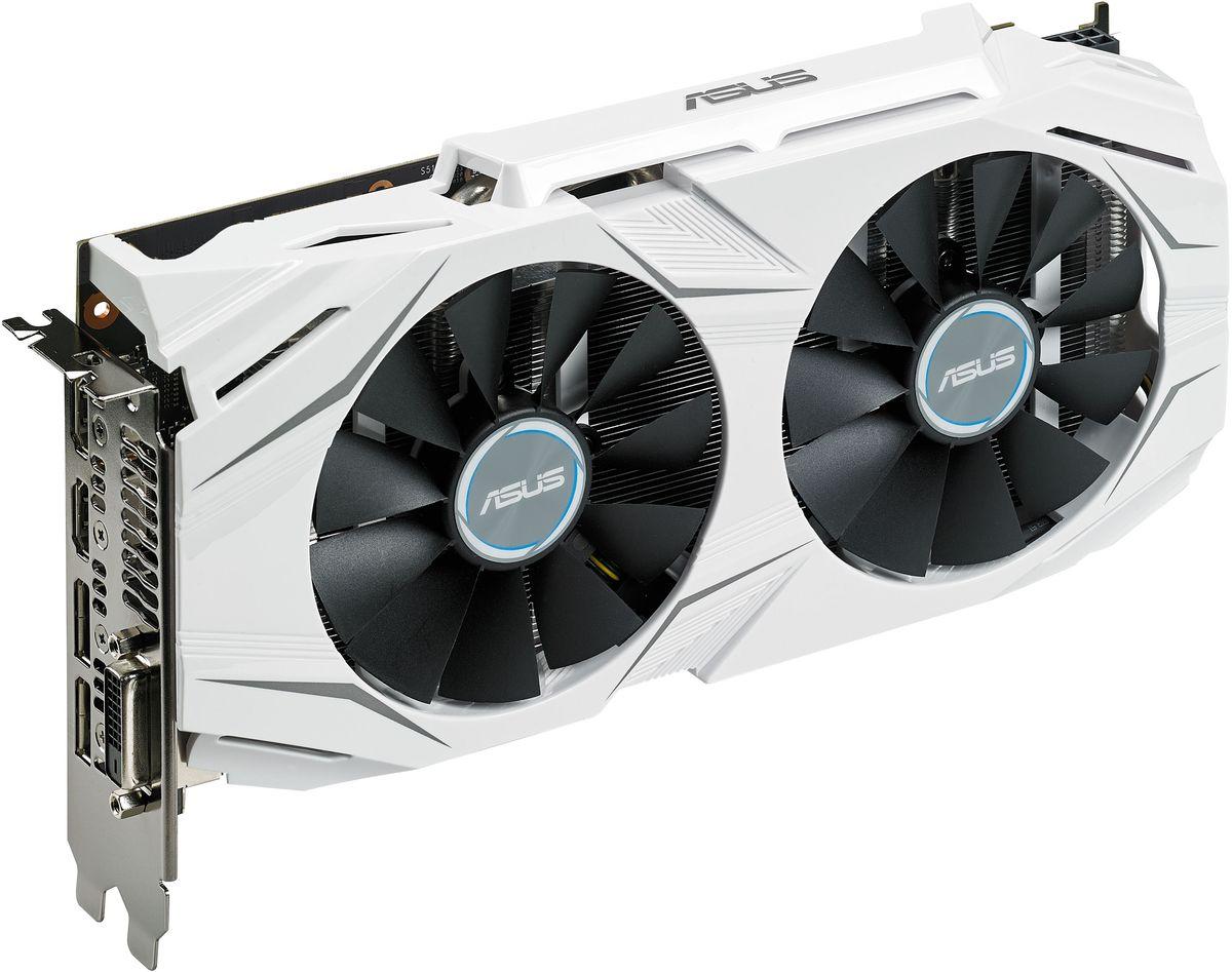 ASUS Dual GeForce GTX 1060-O6GDUAL-GTX1060-O6GВидеокарта ASUS Dual GeForce GTX 1060 оснащена множеством эксклюзивных технологий ASUS. Используемая на ней система охлаждения может похвастать высокой эффективностью за счет двух вентиляторов с оптимизированной геометрией крыльчатки, а безупречная надежность устройства обеспечивается полностью автоматизированным процессом производства (технология Auto-Extreme) и доборными компонентами Super Alloy Power II. В комплект поставки видеокарты входят утилиты GPU Tweak II для настройки и мониторинга ее параметров и XSplit Gamecaster для записи и трансляции процесса игры в режиме реального времени. Стиль ASUS Dual GeForce GTX 1060 идеально сочетается с внешним видом материнской платы ASUS X99-A II. Выполненные в едином стиле, видеокарта ASUS Dual GeForce GTX 1060 и материнская плата X99-A II прекрасно подходят для совместной работы, в том числе, на компьютерах с новой операционной системой Windows 10. Данная видеокарта обладает поддержкой технологии DirectX 12. Два вентилятора охлаждения...