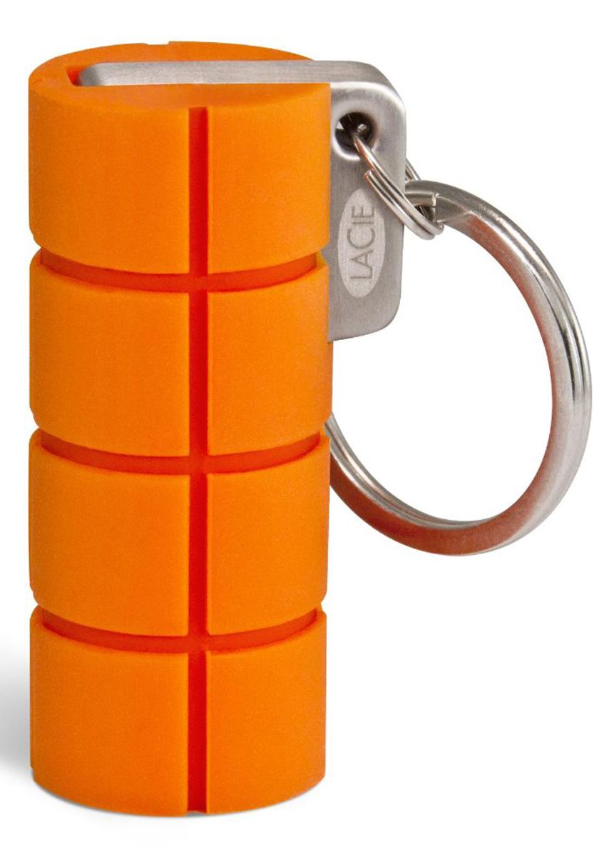 LaCie Rugged Key 64GB флеш-накопительLAC9000399USB-накопитель LaCie Rugged Key создан для любителей экстрима, имеет маленькие габариты и прочный корпус. Флэш накопитель сделан в виде маленькой цилиндрической гранаты с кольцом. Оранжевый прорезиненный защитный корпус оставит информацию неуязвимой к высоким и низким температурам, воздействиям влаги, сильным ударам и падениям с высоты до 100 метров. Максимальная скорость передачи данных: 150 Мбит/с Шифрование AES 256-bit Совместимые ОС: Windows 7, Windows 8 / Mac OS X 10.5