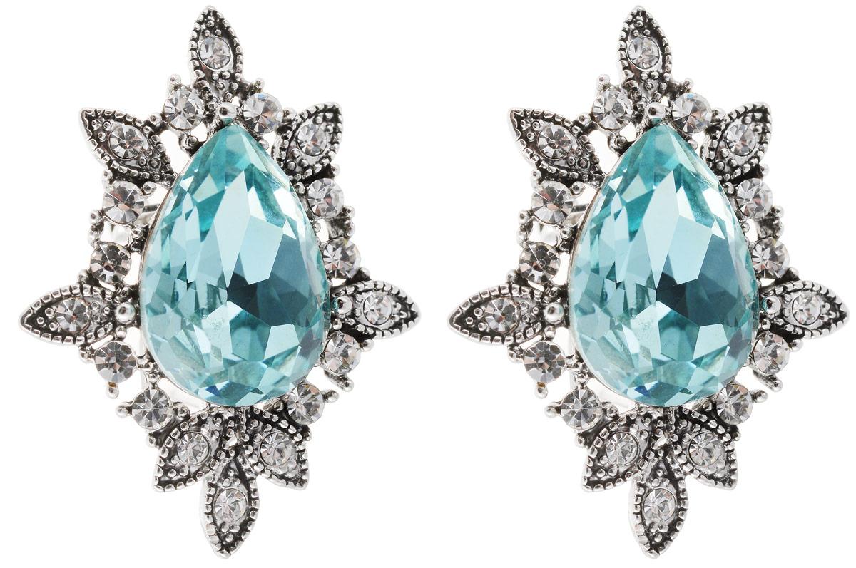 Серьги Art-Silver, цвет: серебряный, голубой. 29571-62829571-628Стильные серьги Art-Silver выполнены из бижутерного сплава. Серьги оформлены оригинальными декоративными вставками. Серьги выполнены с замками-гвоздиками. Такие серьги будут ярким дополнением вашего образа.