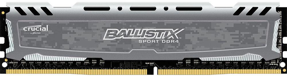 Crucial Ballistix Sport DDR4 8GB 2400МГц модуль оперативной памятиBLS8G4D240FSBМодуль оперативной памяти Crucial Ballistix Sport типа DDR4 обеспечивает увеличенную рабочую частоту (по сравнению с предыдущем поколением) при сниженном тепловыделении и экономном энергопотреблении. Благодаря низкому напряжению (1,2 В), снижается потребление энергии, что обеспечивает отсутствие нагрева и бесшумную работу ПК. Теплоотвод выполнен из чистого алюминия, что ускоряет рассеяние тепла. Объем памяти 8 ГБ позволит свободно работать со стандартными, офисными и профессиональными ресурсоемкими программами, а также современными требовательными играми. Работа осуществляется при тактовой частоте 2400 МГц и пропускной способности, достигающей до 19200 Мб/с, что гарантирует качественную синхронизацию и быструю передачу данных, а также возможность выполнения множества действий в единицу времени. Параметры тайминга 16-16-16 гарантируют быструю работу системы. Имеется поддержка XMP 2.0 для удобного разгона в автоматическом режиме.
