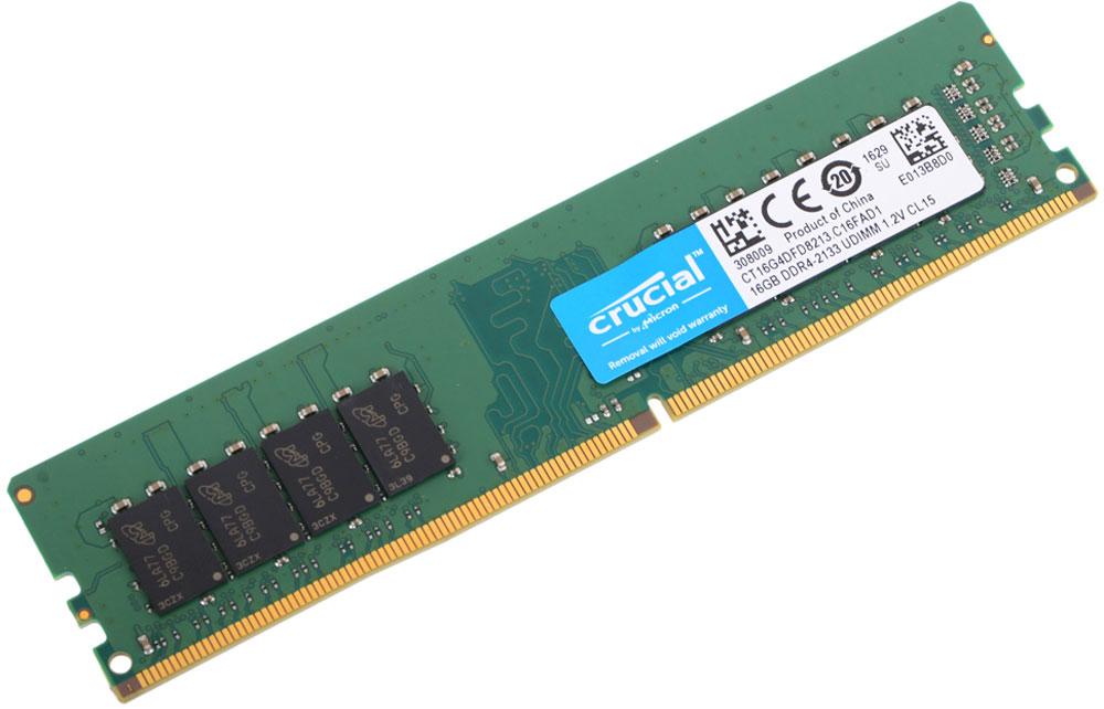 Crucial CL15 Dual Rank DDR4 16GB 2133МГц модуль оперативной памятиCT16G4DFD8213Небуферезированная память Crucial Dual Rank DDR4 предоставляет качество работы, надежность и производительность - основные требования для современных компьютеров. Этот модуль емкостью 16 ГБ, спроектирован для работы на частоте 2133 МГц PC4-17000 и таймингах CL15 для лучшего отклика системы при использовании необходимых приложений.