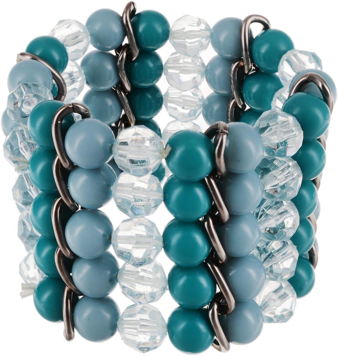 Браслет женский Art-Silver, цвет: зеленый. 15963-31015963-310Бижутерный сплав, полимер, кристаллы.