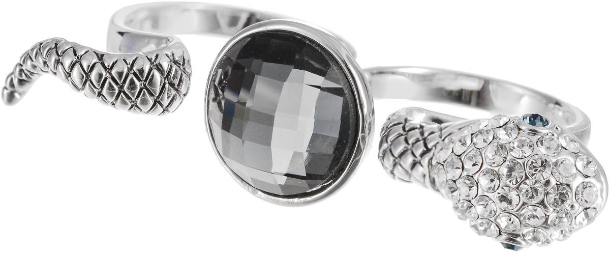 Кольцо на два пальца Art-Silver, цвет: серебряный. 02028-2-1067. Размер 1802028-2-1067Оригинальное кольцо Art-Silver выполнено из бижутерного сплава с гальваническим покрытием. Кольцо на два пальца в виде змеи украшено декоративными вставками. Элегантное кольцо Art-Silver превосходно дополнит ваш образ и подчеркнет отменное чувство стиля своей обладательницы.