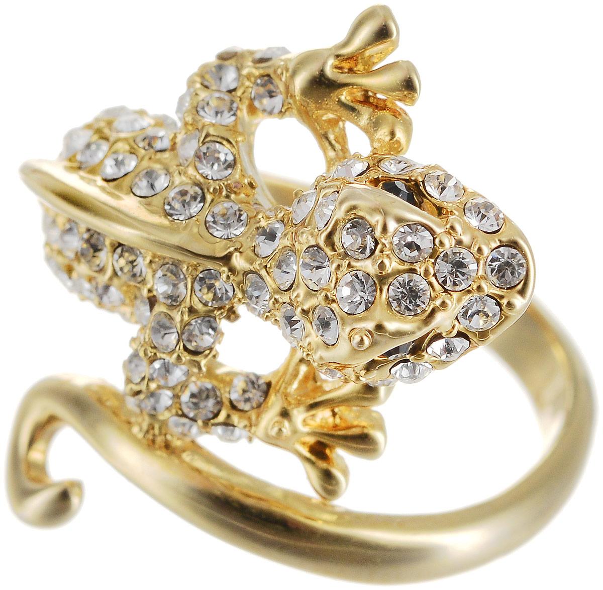 Кольцо Art-Silver, цвет: золотой. КЦ1310-550. Размер 18КЦ1310-550Оригинальное кольцо Art-Silver выполнено из бижутерного сплава с гальваническим покрытием. Кольцо в виде ящерицы украшено декоративными вставками. Элегантное кольцо Art-Silver превосходно дополнит ваш образ и подчеркнет отменное чувство стиля своей обладательницы.
