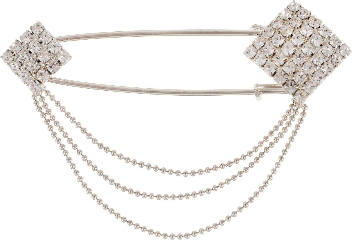 Брошь женская Art-Silver, цвет: серебряный. 9190-2449190-244Бижутерный сплав, куб.циркон.