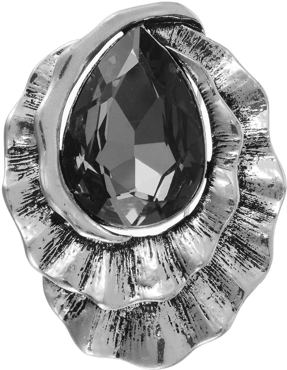 Брошь женская Art-Silver, цвет: серебряный. 08208238-43808208238-438Бижутерный сплав, кристаллы.
